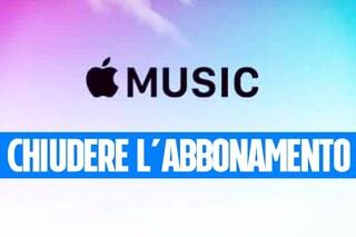 Come cancellarsi da Apple Music e disattivare l'abbonamento