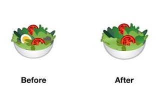 Google toglie le uova dall'emoji dell'insalata: non era vegana