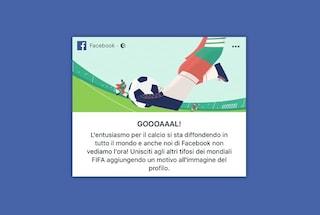 Facebook celebra i Mondiali 2018 con l'immagine del profilo personalizzata