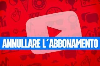 Come annullare l'abbonamento YouTube Premium o YouTube Music