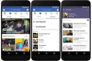Watch, cos'è la nuova icona (e sezione) di Facebook dedicata ai video