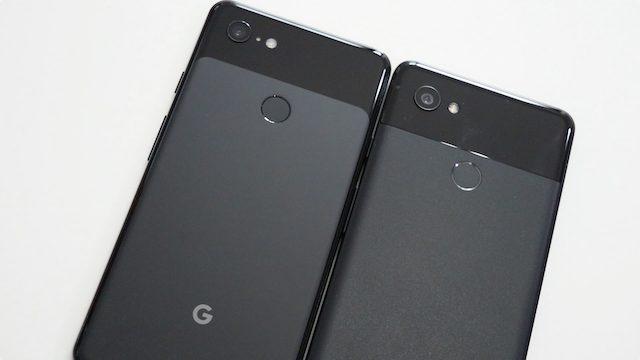 A sinistra Pixel 3 XL, a destra Pixel 2 XL