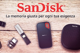 Sandisk in offerta su Amazon: schede di memoria, hard disk, SSD e penne USB in sconto