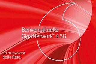 Vodafone, ecco la nuova Giga Network 4.5G e l'offerta senza limiti