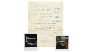 L'asta del manoscritto di Steve Jobs che descrive l'Apple I è un flop: nessuno l'ha comprato