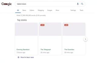 Ecco come sarebbe una ricerca su Google con la nuova norma sul copyright