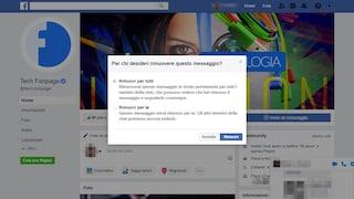 Su Facebook Messenger è finalmente possibile cancellare i messaggi già inviati
