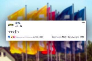 Uno strano testo compare sulla pagina di Ikea e diventa il post piu commentato e condiviso