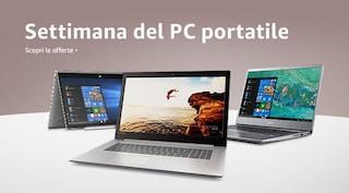 Laptop Week: computer portatili fino al 40% di sconto su Amazon