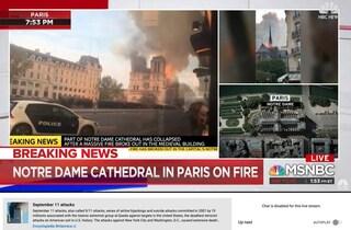 Incendio Notre Dame: YouTube lo confonde con l'11 settembre e mostra articoli sull'attentato