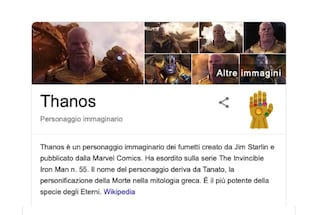 Thanos schiocca le dita su Google: l'easter egg  a tema Avengers