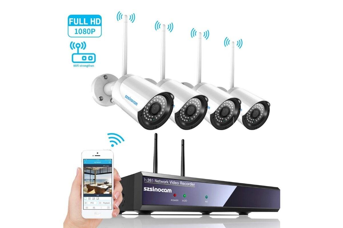 Kit con telecamere di videosorveglianza WiFi Szsinocam