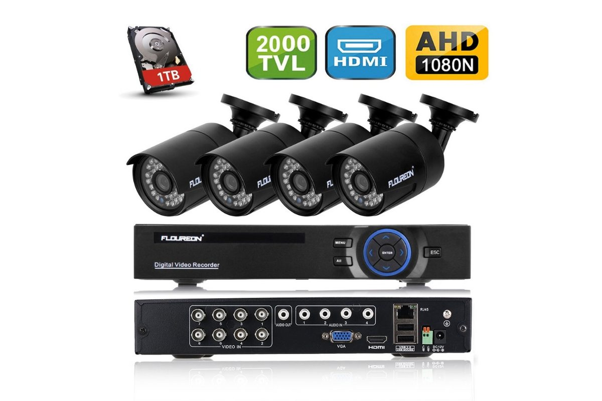 Kit di videosorveglianza Floureon DVR