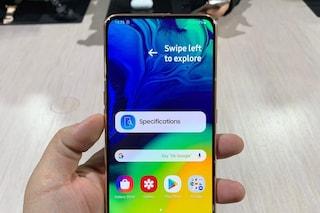 Samsung sta lavorando a uno smartphone tutto schermo con fotocamera sotto al display