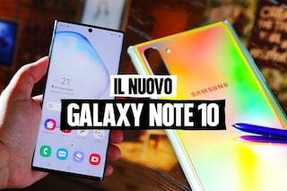 Samsung Galaxy Note 10 e Note 10+: la nuova S Pen, 4 fotocamere e tutte le caratteristiche