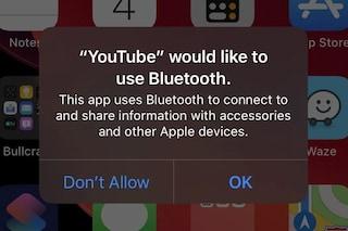 Perché su iOS 13 decine di app chiedono l'accesso al Bluetooth
