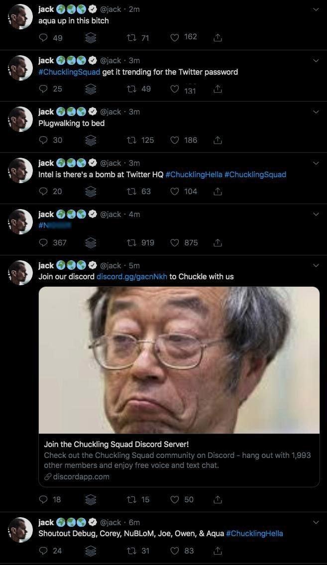 dorsey account twitter violato