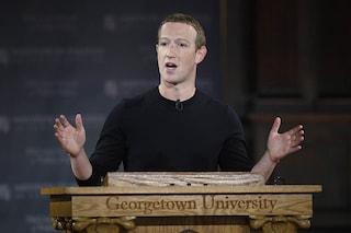 """Il discorso di Zuckerberg sulla libertà di parola: """"Non è giusto che un'azienda censuri i politici"""""""