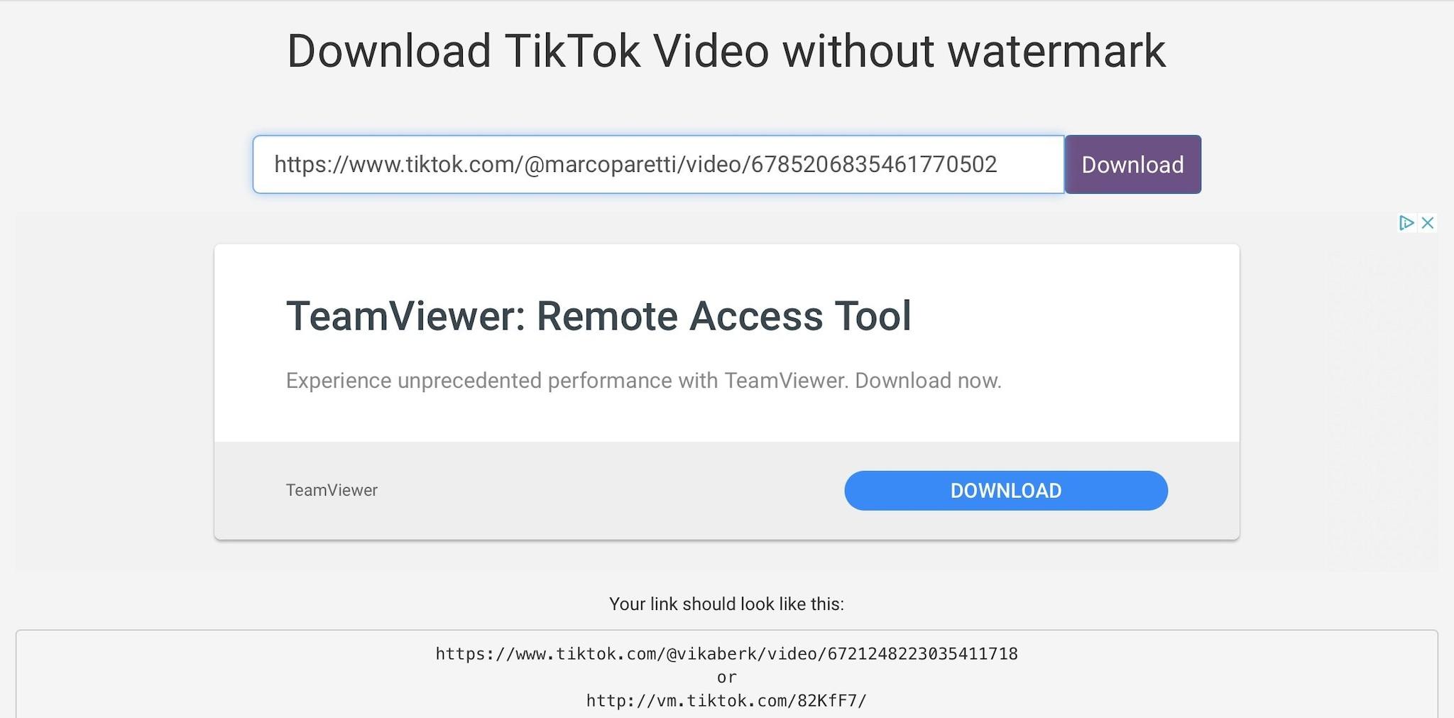 scaricare video tiktok senza logo pubblicare instagram byte