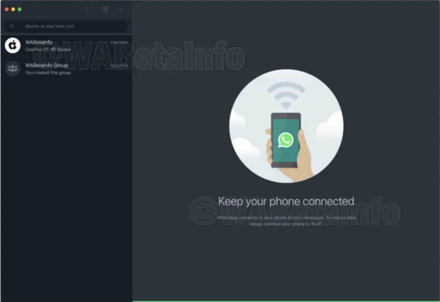 WhatsApp tema scuro web desktop mac pc