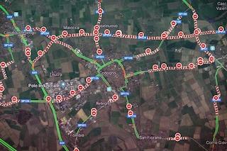 Coronavirus, su Google Maps l'immagine di Codogno e Vo completamente bloccate