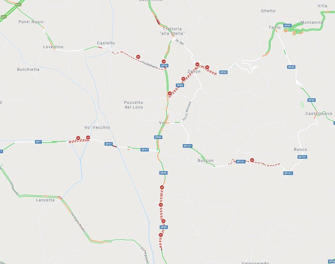 codogno confini quarantena google maps