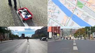 Infila 99 smartphone in un carretto e manda in tilt Google Maps: l'app l'ha scambiato per traffico