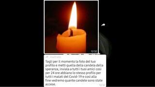 La candela della speranza su WhatsApp (che non è un rito satanico)