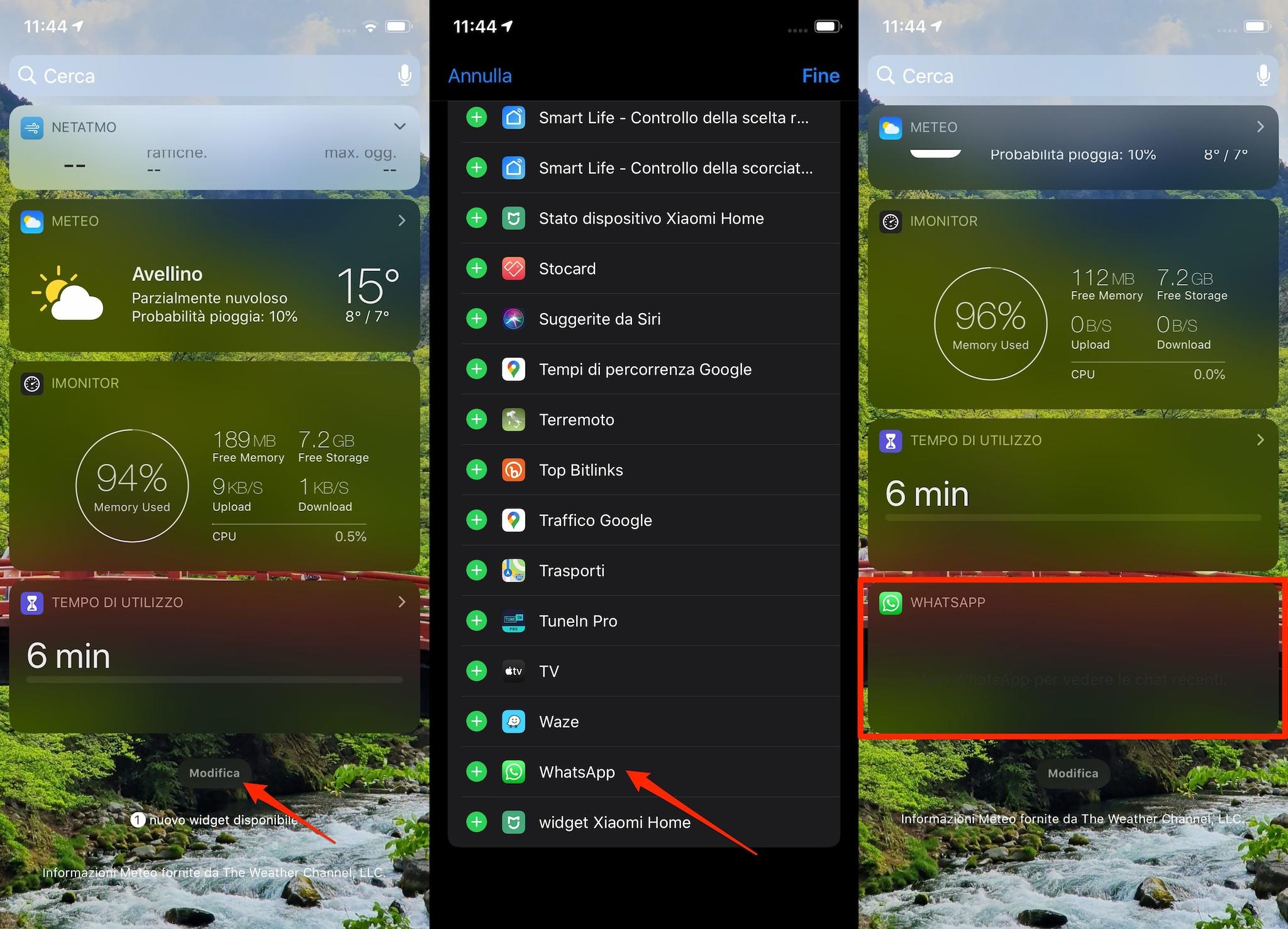 trucco WhatsApp messaggi veloci velocemente collegamenti widget iphone android