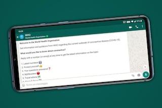 Ecco il bot per chattare con l'OMS su WhatsApp (e fargli domande sul coronavirus)