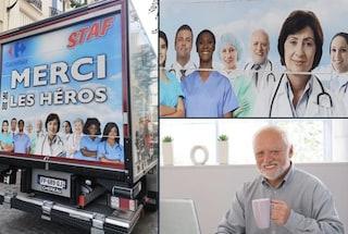 """""""Grazie eroi"""": ma nella pubblicità per i medici c'è anche il meme Hide the pain Harold"""