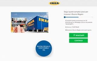 Ti è arrivato un buono Ikea su WhatsApp? È una truffa