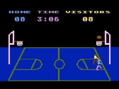 """1979, il primo personaggio nero dei videogiochi in """"Basketball"""", per Atari 800"""