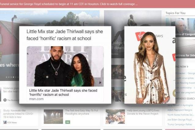 La protagonista dell'articolo, Jade Thirlwall, a destra