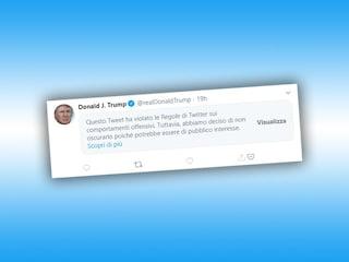 Twitter ha contrassegnato come violento un altro tweet di Trump