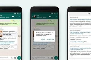 WhatsApp ti fa cercare su Google i messaggi inoltrati (per trovare le bufale)
