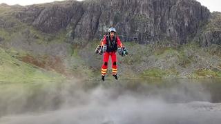 I soccorritori arrivano volando come Iron Man: l'esperimento nel Regno Unito