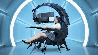 Questa sedia sembra uno scorpione ma è una super postazione per videogiocatori