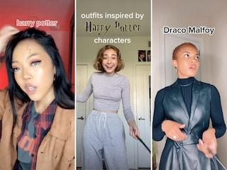 Lo spettacolare trend di TikTok con gli outfit ispirati ad Harry Potter