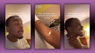 Nell'ultimo trend di TikTok gli utenti fingono effetti collaterali dal vaccino anti Covid-19