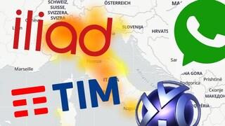 WhatsApp down insieme a TIM, Iliad e PlayStation Network: servizi inutilizzabili in tutta Italia