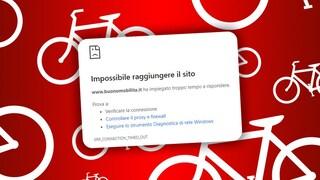 Il sito per ottenere il bonus mobilità 2020 è irraggiungibile: troppi utenti collegati