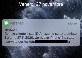 """Hai ricevuto un SMS da """"Amazon"""" che ti premia con un iPhone 12? Attenzione alla truffa"""