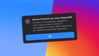 """""""Alcune funzioni non sono disponibili"""": cos'è il messaggio che appare su Instagram e Messenger"""