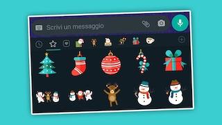 Come scaricare e inviare gli adesivi di Natale per gli auguri su WhatsApp
