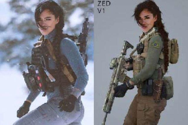 A sinistra lo shooting per Cade, a destra quello per Mara