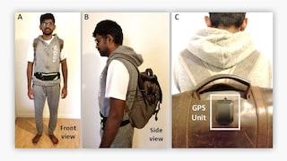 Questo zainetto avvisa i non vedenti quando stanno per colpire un oggetto
