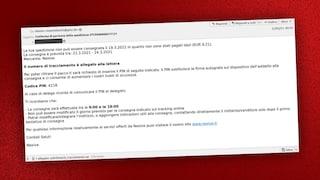 Se hai ricevuto un'email che ti avvisa di una mancata consegna, non aprire l'allegato: è un virus
