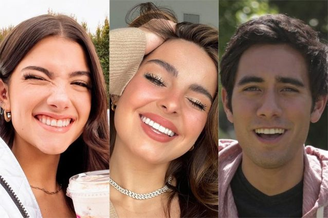 Gli infuluencer web Charli D'Amelio, Addison Rae e Zach King (Foto: Instagram, Twitter)