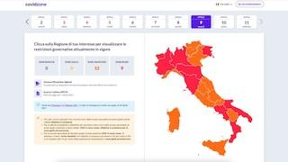 I nuovi colori delle regioni su Covidzone, l'app con la mappa e le regole in tempo reale